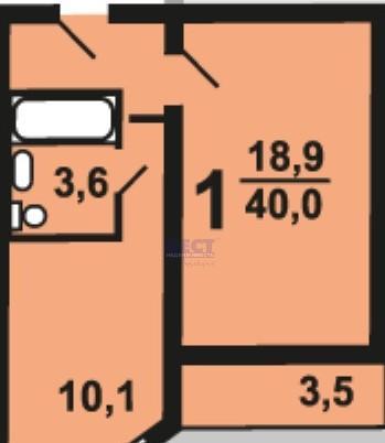 Продается однокомнатная квартира за 2 490 000 рублей. Домодедово, улица Творчества, 10А.