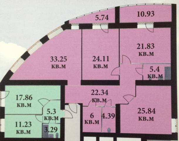 Продается трехкомнатная квартира за 8 600 000 рублей. Дубна, проспект Боголюбова, 16к2.