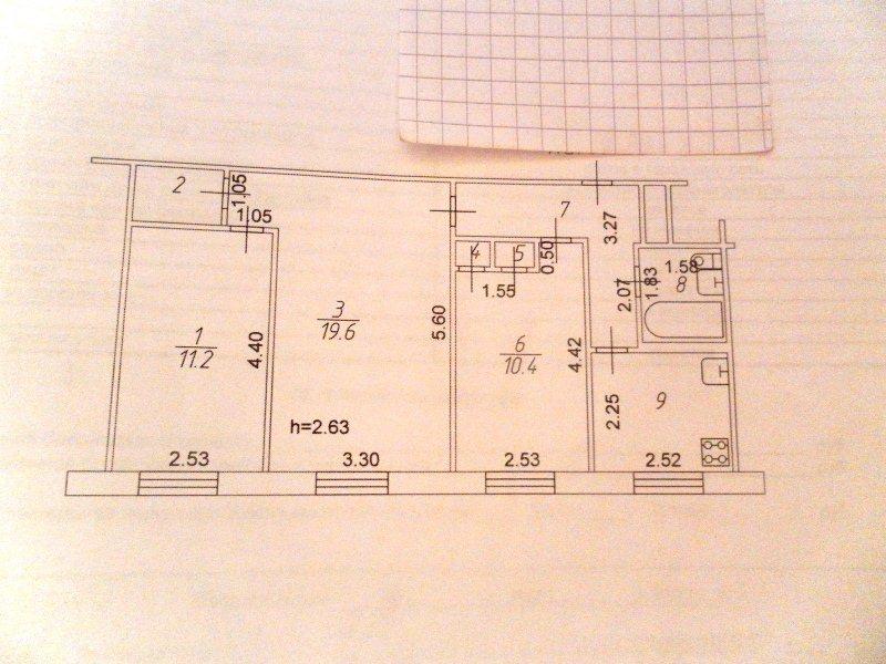 Продажа 3-к квартиры ибрагимова, 24, 59 м² (миниатюра №7)