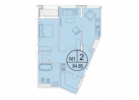 Продажа 2-к квартиры Щербаковский переулок, 7, 85 м² (миниатюра №9)