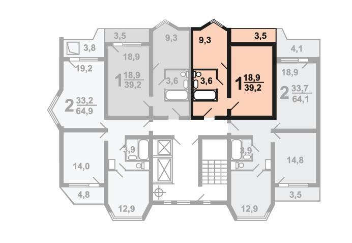 Продается однокомнатная квартира за 3 165 478 рублей. Балашиха, улица Андрея Белого, 8.