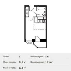 Продается однокомнатная квартира за 2 150 000 рублей. Видное, Софийская улица, 17.
