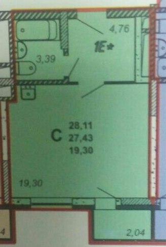 Продажа 1-к квартиры сказочный лес