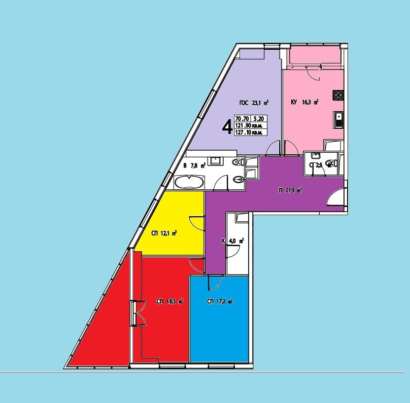 Продается четырехкомнатная квартира за 38 000 000 рублей. г Москва, Дмитровское шоссе, д 13.