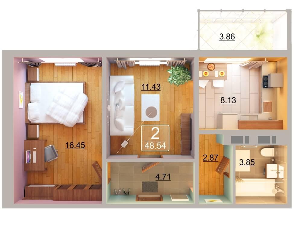 Продажа 2-к квартиры натана рахлина