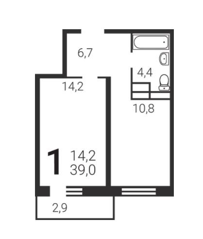 Продается однокомнатная квартира за 3 480 000 рублей. Видное, бульвар Зелёные Аллеи, 2к10.