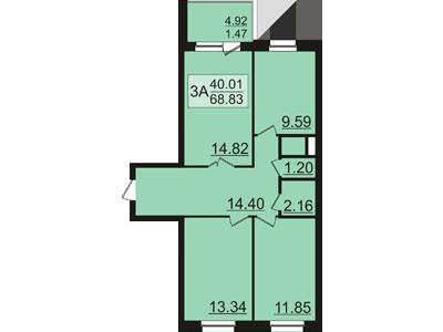 Продажа 3-к квартиры залесная