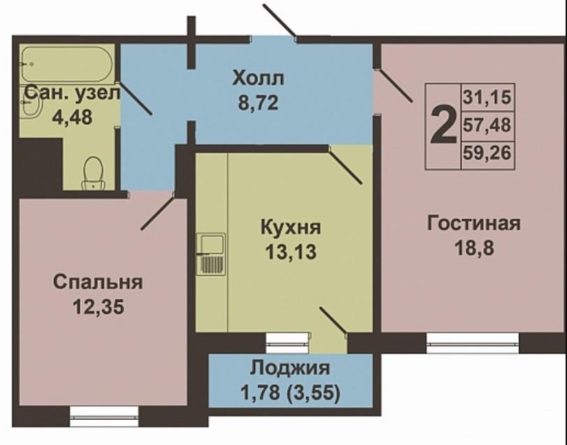 Продажа 2-к квартиры баки урманче, 11Бк4