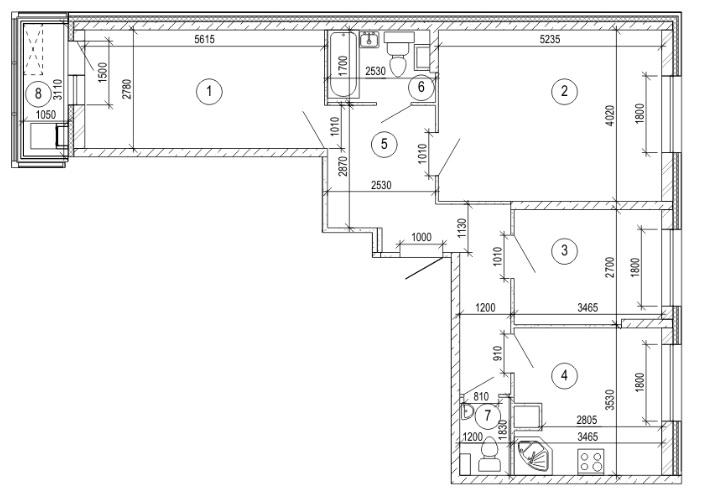 Продается трехкомнатная квартира за 5 538 000 рублей. Красногорск, бульвар Космонавтов, 1.