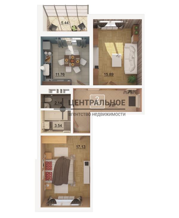 Продажа 2-к квартиры ул. Баки Урманче/Гарифа Ахунова, ЖК «Солнечный город»