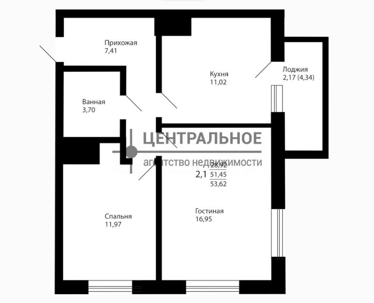Продажа 2-к квартиры Оренбургский тракт, ЖК «Сказочный Лес»