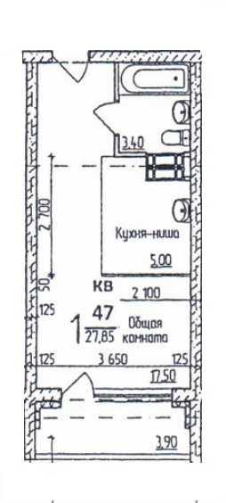 Продается однокомнатная квартира за 1 350 000 рублей. г Барнаул, ул Советской Армии, д 71.