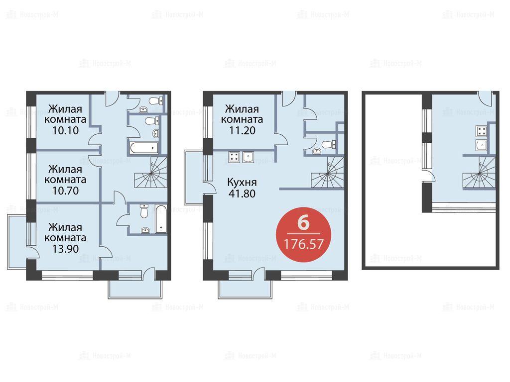Продается четырехкомнатная квартира за 62 290 000 рублей. г Москва, ул Ямская 1-я, д 8.