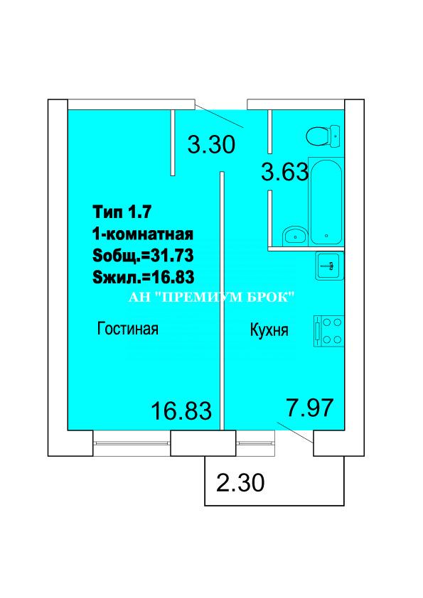 Продается однокомнатная квартира за 1 015 360 рублей. Волгоградская обл, рп Городище, Свободный пер, д 4.