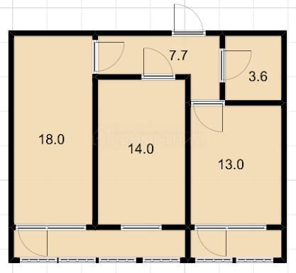 2-комн. квартира, 52.9 кв.м., Московская улица, 148лит1, Краснодар