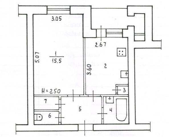 Продаётся 1-комн.               квартира, 15 сот,  Волгоград,               Тракторозаводский, улица Николая Отрады, 10