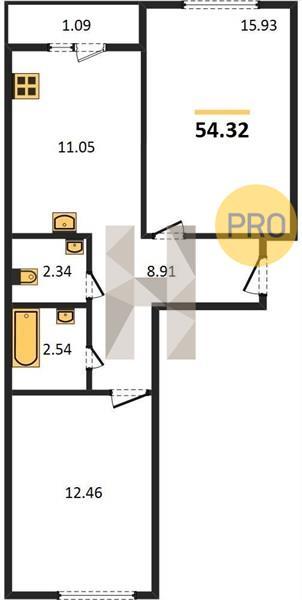 Продажа 2-к квартиры