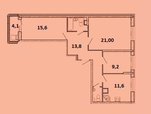 Продается трехкомнатная квартира за 6 020 001 рублей. Красногорск, бульвар Космонавтов, 8.