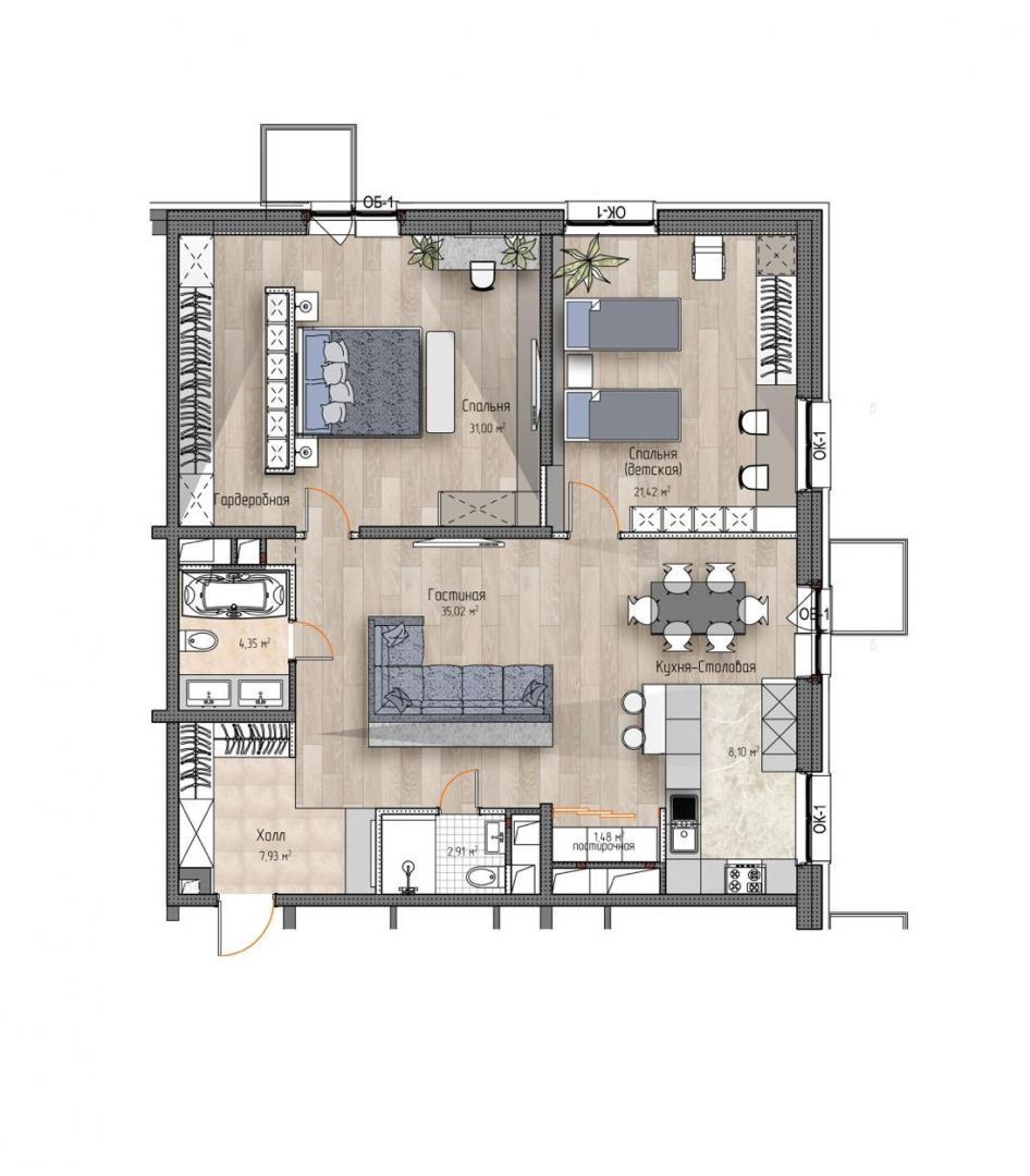 Продается трехкомнатная квартира за 21 629 000 рублей. г Москва, ул Багрицкого, д 10 к 4.