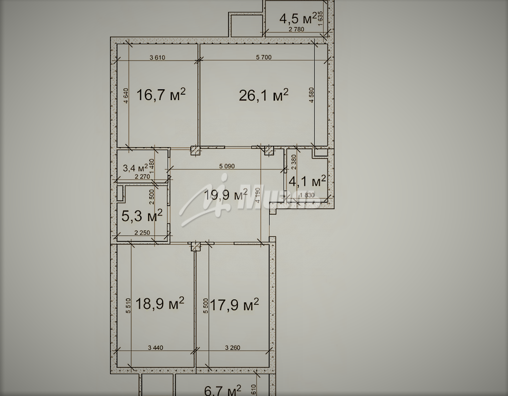 Продается трехкомнатная квартира за 11 500 000 рублей. Троицк, Солнечная улица, 7.