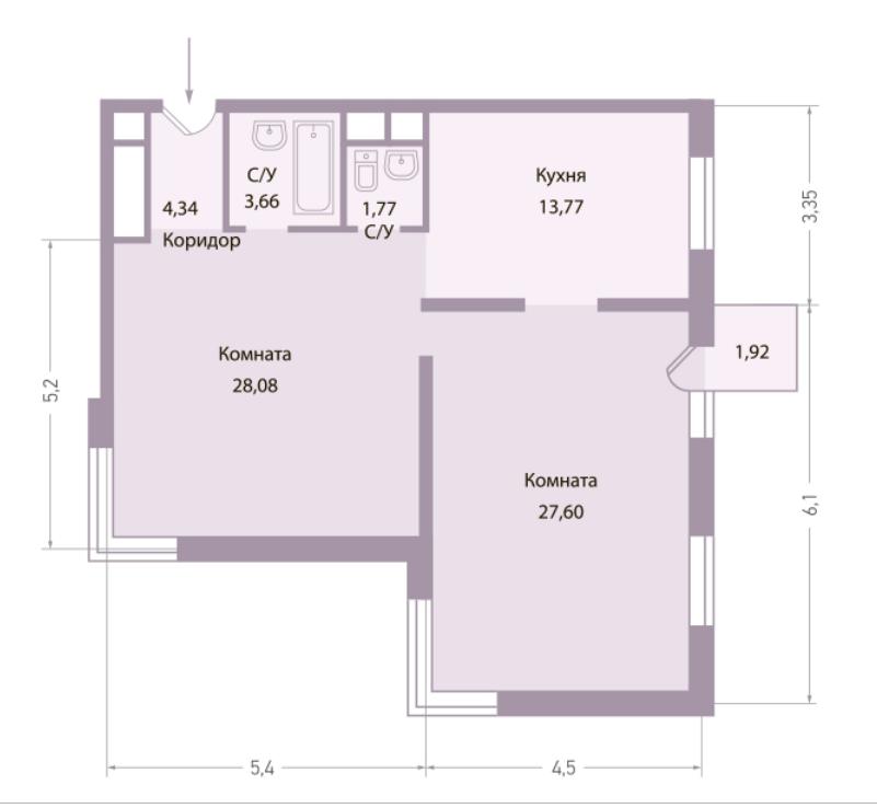 Продается двухкомнатная квартира за 15 956 000 рублей. г Москва, ул Багрицкого, д 10 к 4.