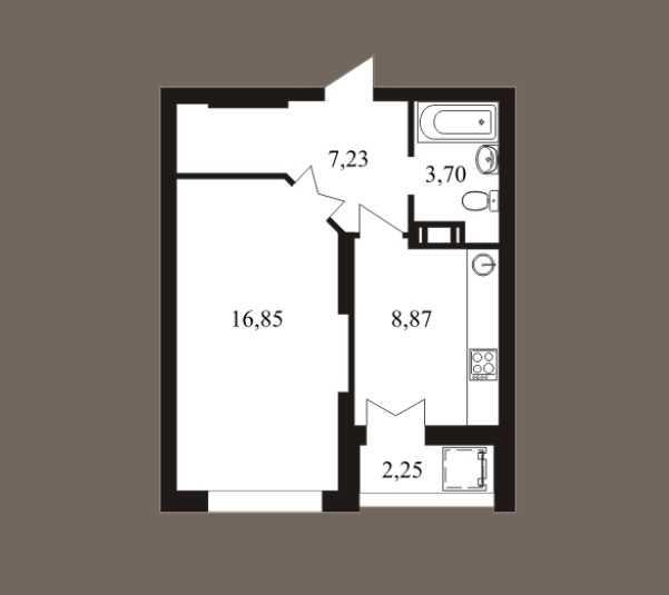 Продается однокомнатная квартира за 1 560 000 рублей. г Саратов, ул Шелковичная жилой комплекс Царицынский.