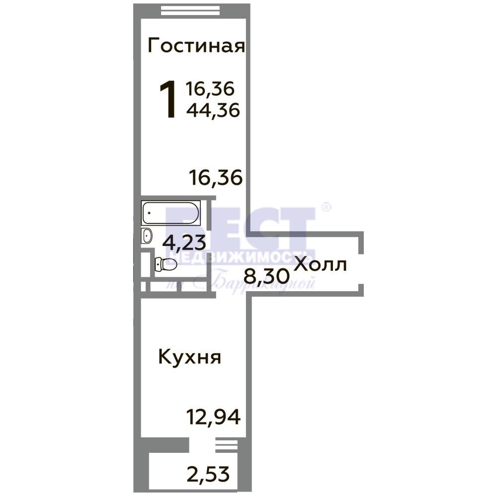 Квартира на продажу по адресу Россия, Московская область, Ленинский район, Горки ленинские, 58А