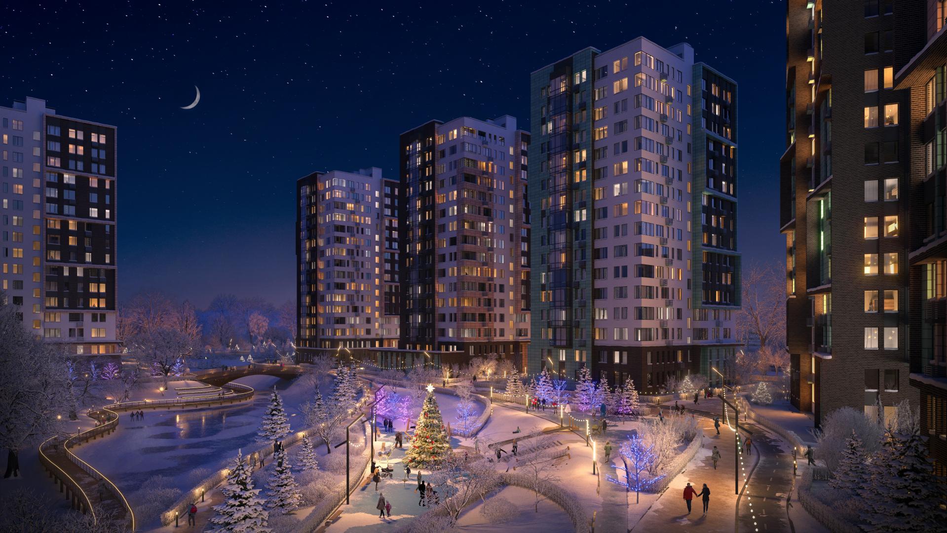 Продается однокомнатная квартира за 4 348 600 рублей. Коммунарка, Скандинавский бульвар, 4к2.