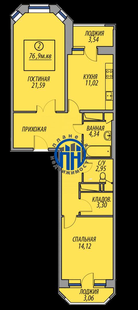 Продается двухкомнатная квартира за 4 026 000 рублей. Московская обл, г Балашиха, деревня Федурново, ул Авиарембаза, д 5.