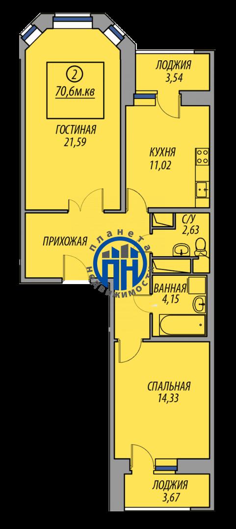 Продается двухкомнатная квартира за 3 669 000 рублей. Московская обл, г Балашиха, деревня Федурново, ул Авиарембаза, д 5.