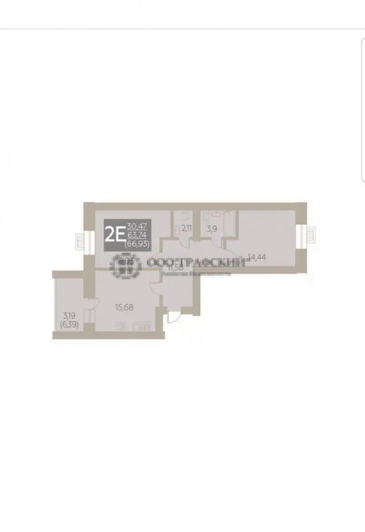 Продажа 2-к квартиры ул. Портовая, блок-секция 1.1