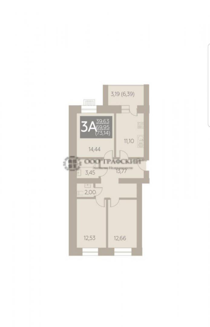 Продажа 3-к квартиры портовая, 25