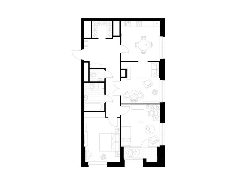 Продается трехкомнатная квартира за 12 083 200 рублей. г Москва, ул Поляны, д 5.