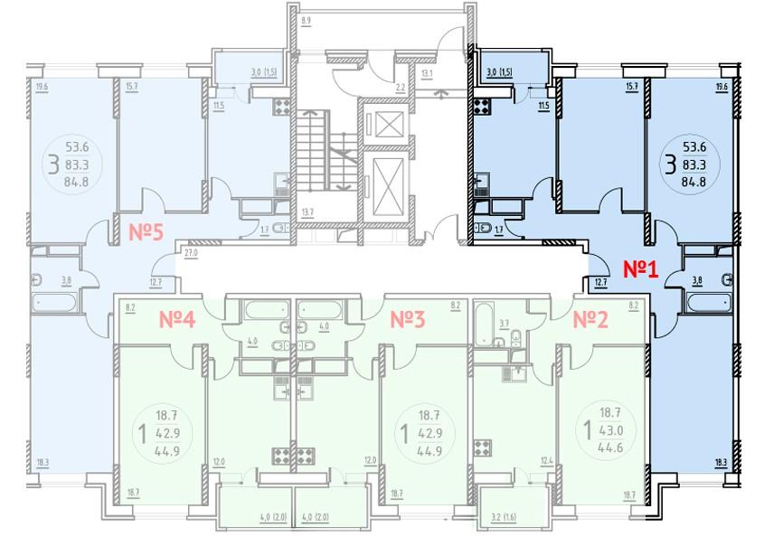 Продается трехкомнатная квартира за 5 345 700 рублей. Московская обл, г Мытищи, поселок Пирогово, ул Совхозная.