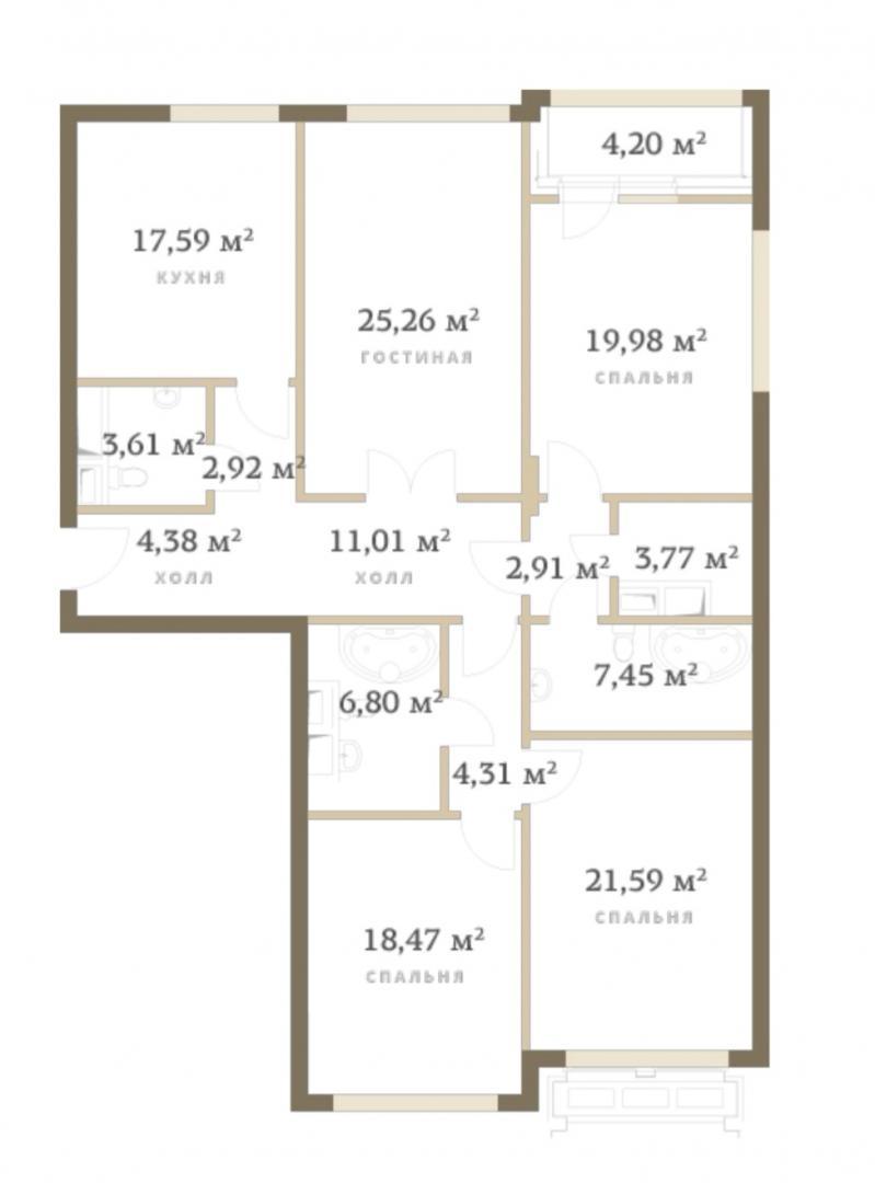 Продам 4-комн. квартиру по адресу Россия, Москва и Московская область, Москва, улица Сергея Макеева, 9 фото 1 по выгодной цене