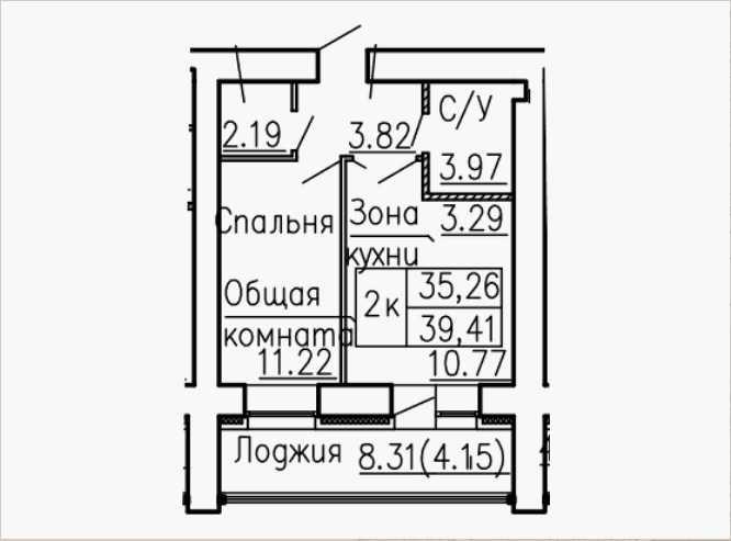 Продается однокомнатная квартира за 1 714 335 рублей. г Барнаул, ул Антона Петрова, влд 221Д.