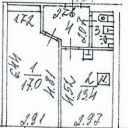 Продается однокомнатная квартира за 7 180 000 рублей. г Москва, Студёный проезд, д 19.