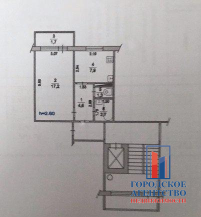Продается однокомнатная квартира за 2 300 000 рублей. Московская обл, г Серпухов, ул Весенняя, д 66А.