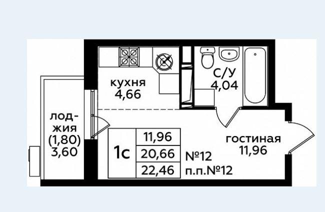 Продается однокомнатная квартира за 3 065 690 рублей. г Южно-Сахалинск, мкр Жилой Массив Зима, Кленовый пер.