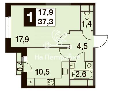 Продается однокомнатная квартира за 7 500 000 рублей. г Москва, Нововладыкинский проезд, д 1 к 2.