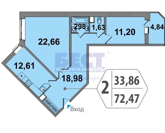 Продается трехкомнатная квартира за 8 330 000 рублей. Московская обл, г Люберцы, Октябрьский пр-кт, д 32.