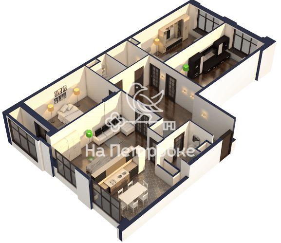 Продается четырехкомнатная квартира за 40 650 000 рублей. г Москва, ул Вавилова, д 69А.
