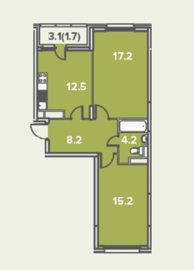 Квартира на продажу по адресу Россия, Московская область, Ленинский район, Молоково, Солнечный проезд, 6