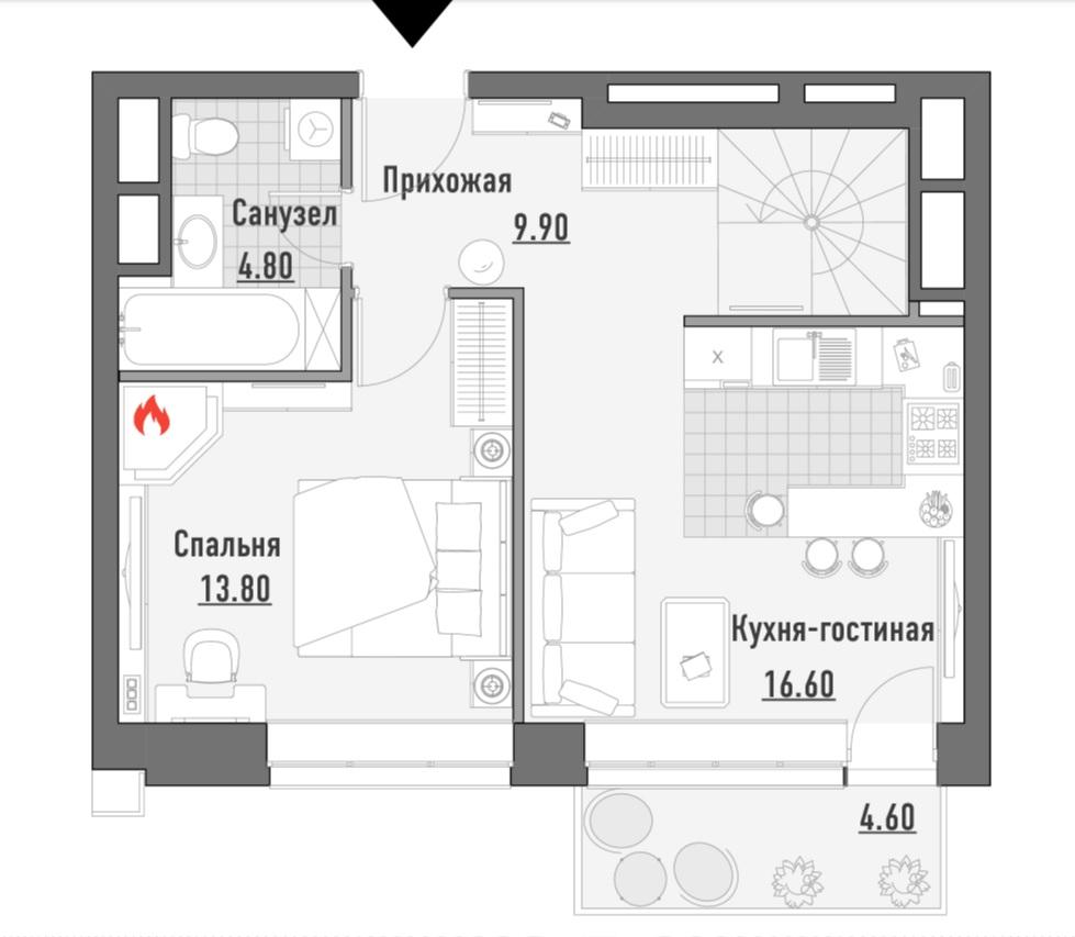 Таунхаус на продажу по адресу Россия, Московская область, Москва, улица Сущёвский Вал, 49с1