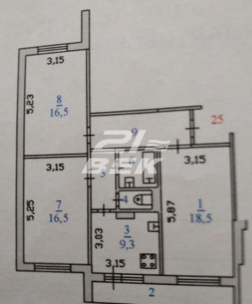 продается 3-х комнатная квартира улучшенно...