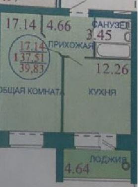продается 1-комнатная квартира в пос. знаме ...
