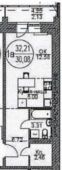 Квартира на продажу по адресу Россия, Томская область, городской округ Томск, Томск, Киевская улица, 1