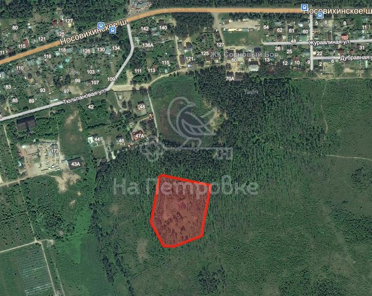 Land на продажу по адресу Россия, Московская область, городской округ Балашиха, Черное, Носовихинское шоссе