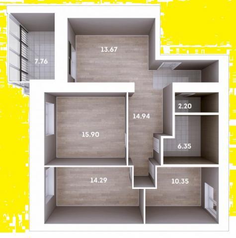 Продажа 3-к квартиры Мамадышский тракт