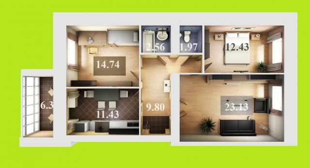Продажа 3-к квартиры даурская, 44Г
